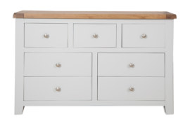 Melbourne French Grey 7 Drawer Wide Chest