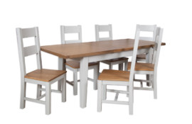Melbourne French Grey Extending Dining Table