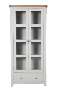 Melbourne French Grey Glazed Display Cabinet