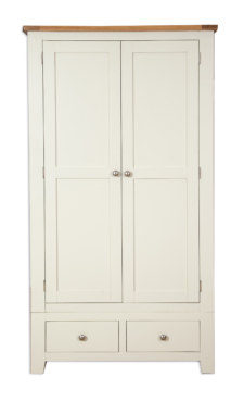 Melbourne Ivory 2 Door 2 Drawer Wardrobe
