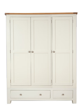 Melbourne Ivory 3 Door 2 Drawer Wardrobe