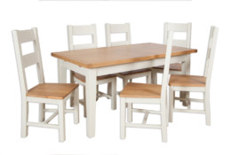 Melbourne Ivory Extending Dining Table