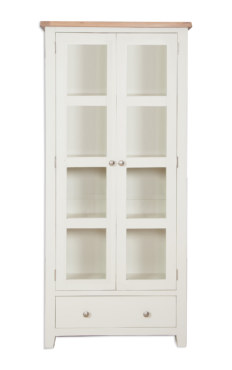 Melbourne Ivory Glazed Display Cabinet