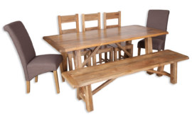 Odisha Large Trestle Dining Table