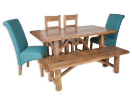 Odisha Medium Trestle Dining Table