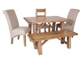 Odisha Small Trestle Dining Table Set