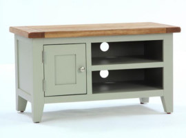 Vancouver French Grey 1 Door 1 Shelf TV Unit