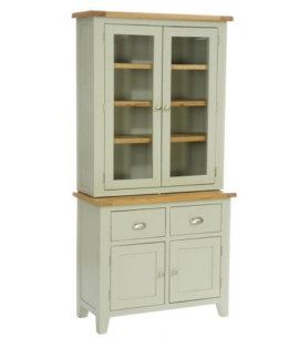Vancouver French Grey 2 Door Glazed Hutch & Buffet