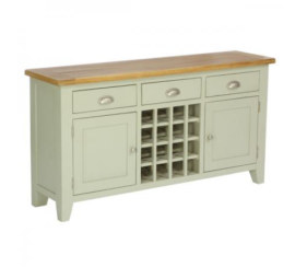Vancouver French Grey 3 Drawer 2 Door Wine Table