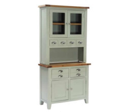 Vancouver French Grey Hutch and Buffet