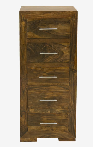 Cube Bedroom 5 Drawer Tall Chest