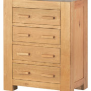 Mews Solid Oak 4 Drawer Chest-0