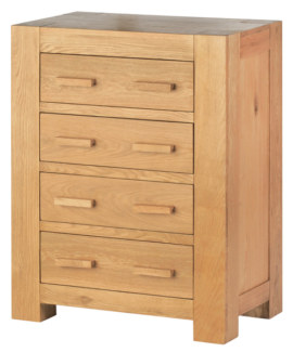 Mews Solid Oak 4 Drawer Chest