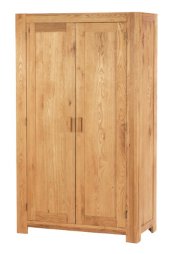 Mews Solid Oak Full Hanging Wardrobe