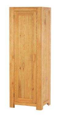 Mews Solid Oak Single Wardrobe