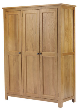 Dublin Solid Oak Solid Oak 3 Door Wardrobe