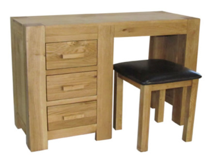 Mews Solid Oak Dressing Table and Stool
