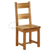 Vancouver Petite Solid Oak Dining Chair with Timber Seat-0