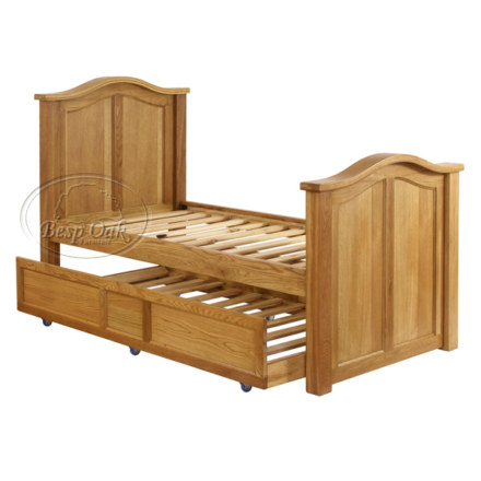 Vancouver Petite Solid Oak Panel Single Pull Out Bed (King size)