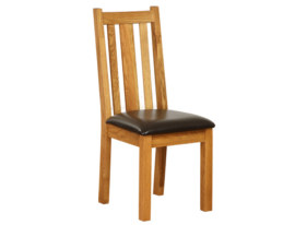 Vancouver Petite Oak Dining Chair with Chocolate : Sherwood Oak Dining Chair with Chocolate Seat