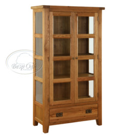 Vancouver Premium Solid Oak Glazed Cupboard
