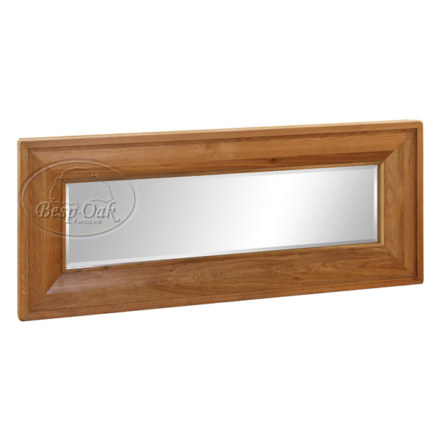 Vancouver Premium Solid Oak Long Rectangular Mirror