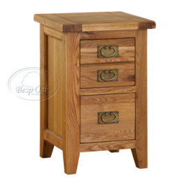 Vancouver Premium Solid Oak 2 Drawer Bed-side Table