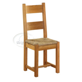 Vancouver Premium Solid Oak Dining Chair with Jute Seat