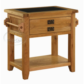 Vancouver Premium Solid Oak Small Kitchen Unit with Granite Top 1 drawer 1 shelf