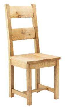 Mews Solid Oak Dining Chair with Wooden Seat