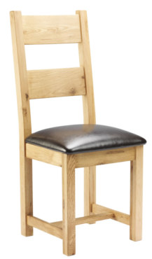 Mews Solid Oak Dining Chair with Padded Seat