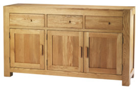 Mews Solid Oak 3 Door Sideboard