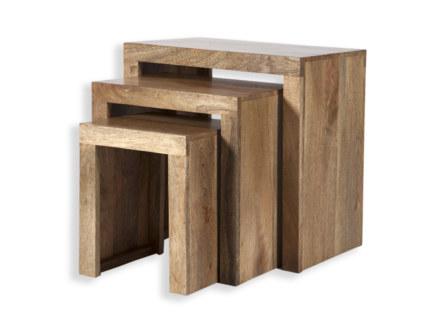 Cube Petite Mango Nest of Tables