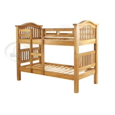 Vancouver Petite Solid Oak Single Bunk Bed