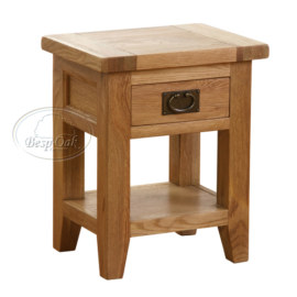 Vancouver Petite Solid Oak 1 Drawer 1 Door Bedside Table