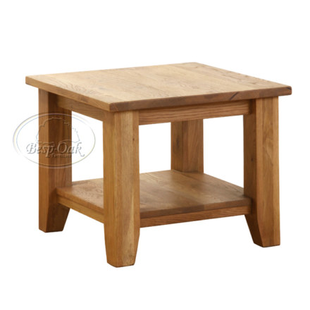 Vancouver Petite Solid Oak Square Coffee Table