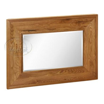 Vancouver Petite Solid Oak Mirror