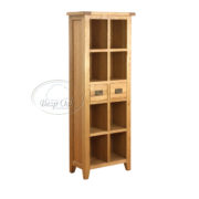 Vancouver Petite Solid Oak 2 Drawer Book Case-0