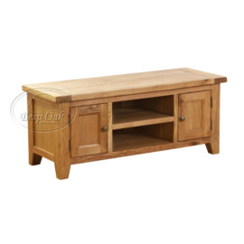 Vancouver Petite Solid Oak 2 Door 1 Shelf TV Unit