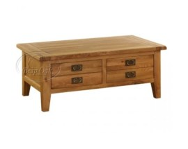 Vancouver Petite Solid Oak  2 Drawers Coffee Table