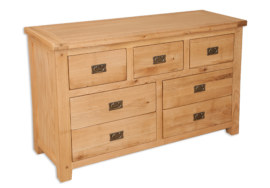 Melbourne Natural 7 Drawer Wide Chest