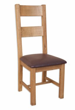 Melbourne Country Oak Solid Oak Ladder Back Dining Chair