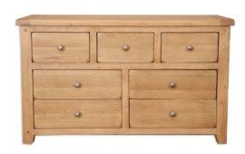 Melbourne Country Solid Oak 7 Drawer Wide Chest