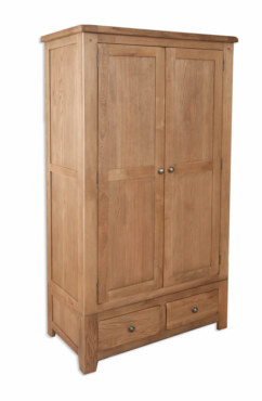 Melbourne Country Solid Oak 2 Door 2 Drawer Wardrobe
