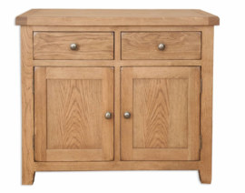 Melbourne Country Oak 2 Door Sideboard Cabinet