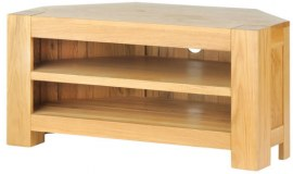 Mews Solid Oak Corner TV Unit
