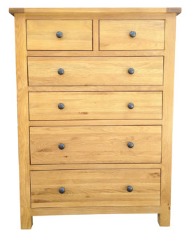 Dublin Solid Oak Jumbo 2 Over 4 Chest