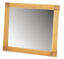 Mews Solid Oak Rectangular Mirror