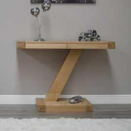 Z Oak Contemporary Console Hall Table