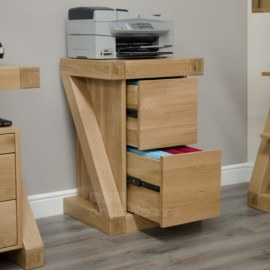 Z Oak Filing Cabinet